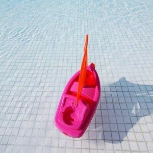 toy ship swimming pool